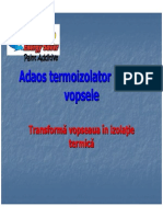 Adaos Termoizolator Pentru Vopsele