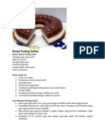 Resep Puding Coklat