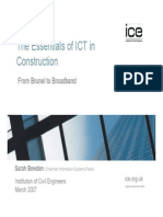 The Essentials of ICT in Construction- Brunel to Broadband