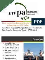 Squires IWPA PEFC Formaldehyde Presentation Nov 11 2013