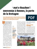 Evasion - Degemer mat e Roazhon - Bienvenue à Rennes, la porte de la Bretagne - Faire Face - Décembre 2013