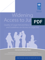 Widening Access to Justice and Legal Aid International Workshop report