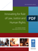 Innovating for Rule of Law, Justice and Human Rights - Annual Report 2013