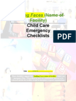 child care emergency checklists from pa