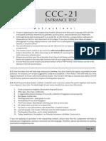 Admission Test CCC-21