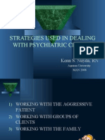 Strategies Used in Dealing With Psychiatric Clients