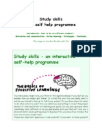 Study Skills - A Self Help Programme