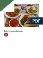 Brocoli en Salsa Roja