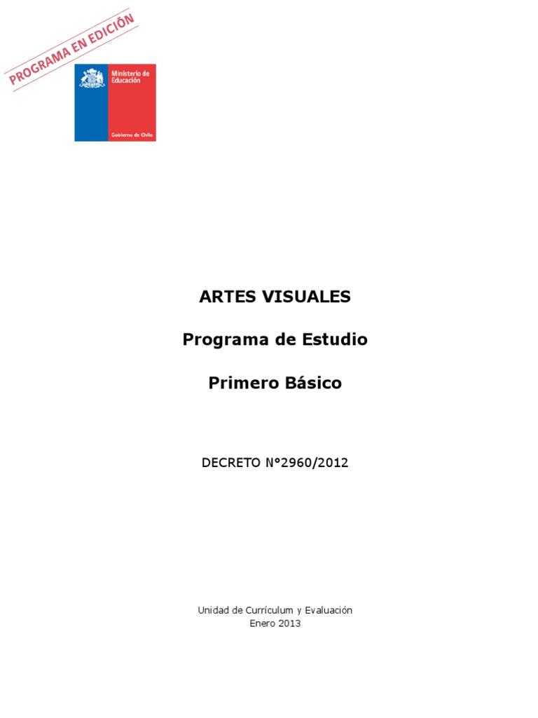 Programa de Estudio 1 Básico Artes Visuales