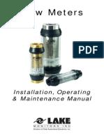 LakeFlowMeterManualLFMM-1205