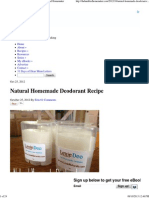 Natural Homemade Deodorant Recipe - The Humbled Homemaker