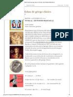 ELLENIZO, fichas de griego clásico_ FICHA 22 _ LECTIONES GRAECAE (1)