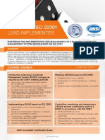 ISO 22301 Lead Implementer - Four Page Brochure