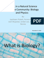 writing in a natural science discourse community