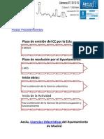 Plazos y Procedimientos para licencias de actividad en Madrid AECLU