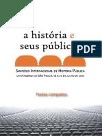ANAIS HISTÓRIA PÚBLICA USP 2012