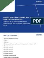 NORMATIVIDAD INTERNACIONAL DE LOS DISPOSITIVOS MÉDICOS