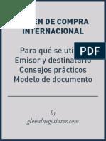 Modelo Orden de Compra Internacional