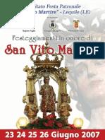 Lequile (LE) - san Vito m.re - anno 2007