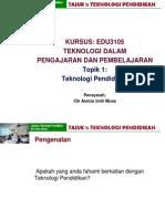 Topik 1-Teknologi Pendidikan