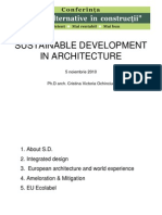 Sustainable Development in Architecture