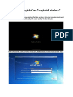 Langkah Menginstal Windows 7