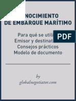 Modelo Conocimiento Embarque Marítimo
