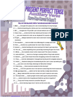 Auxiliary Verbs Present Perfect Tense Have-has Worksheet