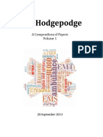 EMS Hodgepodge - Compendium of EMS Papers, Volume 1 (Table of Contents only)