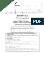2011 Psychology Exam 2