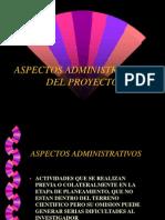 CLASE N° 16 ASPECTOS ADMINISTRATIVOS DEL PROYECTO