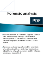 Forensic Analysis
