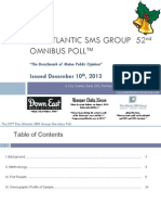 Pan Atlantic SMS Group November 2013 Omnibus Poll Result