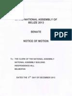 Notice of Motion - Dec 9, 2013