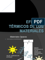 Efectos Termicos de Los Materiales