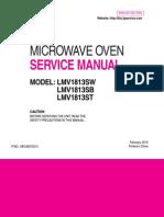 LG LMV1813 Microwave Oven Sm