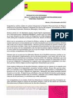 """MENSAJE DE LA IM-DEFENSORAS EN  SOLIDARIDAD CON LA 9° CARAVANA DE MADRES CENTROAMERICANAS """"EMETERIA MARTÍNEZ"""""""