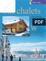 Staying in a Ski Chalet. the Travel & Leisure Magazine