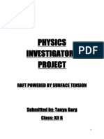 Physics Investigatory Project for class 12th