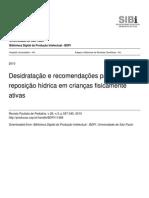 Art REIS Desidratacao e Recomendacoes Para a Reposicao Hidrica 2010