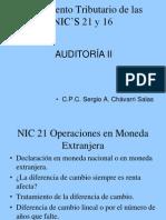 Tratamiento Tributario de las NIC'S 21 y 16