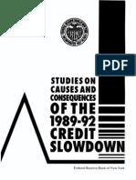 Credit Slowdown 1994 Frbny