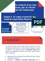 nou servei financer per al Tercer  Sector Social de Catalunya