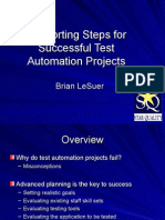 Supporting Steps Test Automation