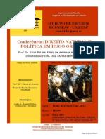 Palestra Direito Natural e Pol+¡tica 2