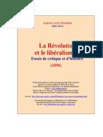 Anatole Leroy-Beaulieu - Revolution Et Liberalisme