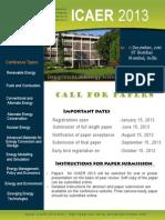 ICAER 2013 Leaflet