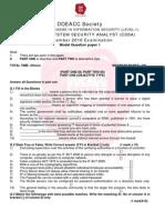 NILET Model Paper A