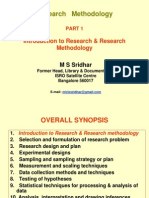 939968 Research Methodology Part 1 Introduction to Research Research Methodology