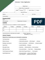 Community Encompass Volunteer Applicationform